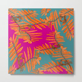 Leaves In Autumn Colors #decor #society6 #buyart Metal Print