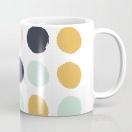 Tinsley - painted dots polka dots minimalist decor nursery gold navy Coffee Mug
