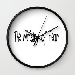 The Ministry of Fear Wall Clock