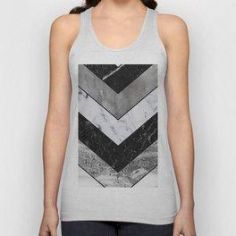 Shimmering mirage - grey marble chevron Unisex Tank Top