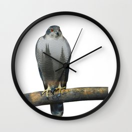 Hawk Double Exposure Wall Clock
