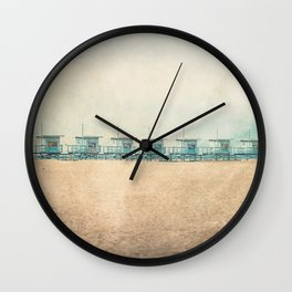 Venice cabins Wall Clock