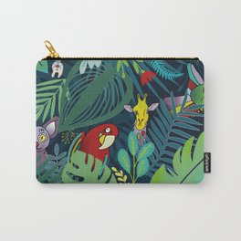 peek-a-boo jungle animals pattern Carry-All Pouch