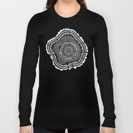 Tree Rings – White Ink on Kraft Long Sleeve T-shirt