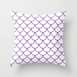 Purple Fish Scales Pattern Throw Pillow