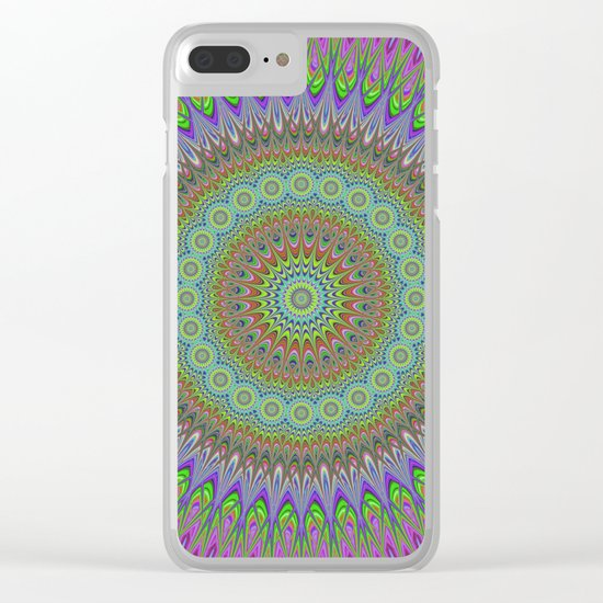 Mandala explosion Clear iPhone Case