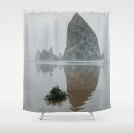 Haystack Rock- Oregon, USA Shower Curtain