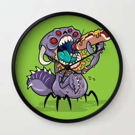 Om Nom Alien Bug Wall Clock