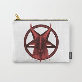 BLOOD RED BAPHOMET Carry-All Pouch
