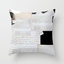 Science Art - 1970s Microbiology Notes  Throw Pillow