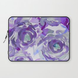 Purple Haze Painterly Floral Abstract Laptop Sleeve