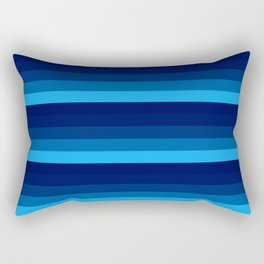 blue stripes Rectangular Pillow
