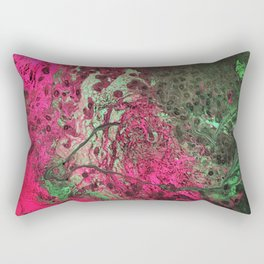 Pink & Green Flow Rectangular Pillow