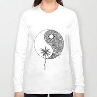 yin yang Long Sleeve T-shirts featuring Yin Yang by KA Doodle