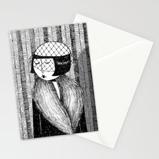 She thought of her cats and wished she was home Stationery Cards