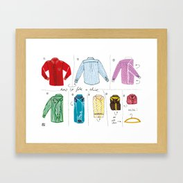 How to fold a shirt Framed Art Print