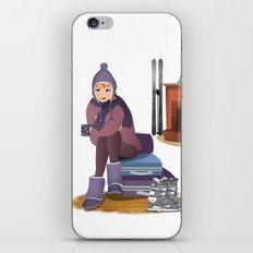 I Love Winter iPhone & iPod Skin