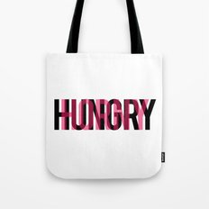 Hungry/Horny Typography Tote Bag