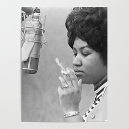 Aretha Franklin Poster Photo Paper Poster