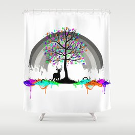 Colorless Raimbow Shower Curtain