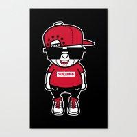hiphop Canvas Prints featuring 30Billion - Hiphop Bear 02 by 30Billion