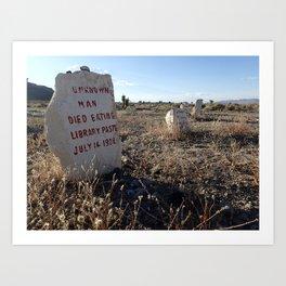 Unusual headstone Art Print