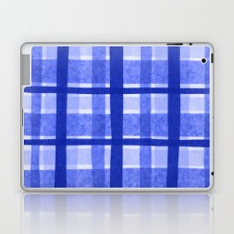 Tissue Paper Plaid - Blue Laptop & iPad Skin