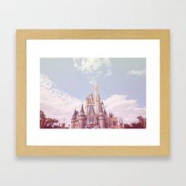 Pastel Castle Framed Art Print