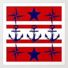 Nautical Red Art Print