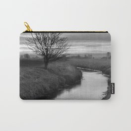 Sunrise On The River (Black & White) Carry-All Pouch