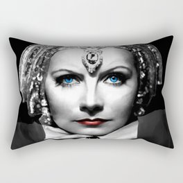 Greta Garbo Portrait Rectangular Pillow