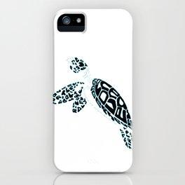 Calligram Sea Turtle iPhone Case