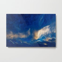 Glowing Acrylic Clouds Metal Print