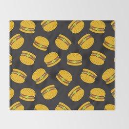 Burger Pattern  Everett co Throw Blanket