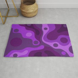 Groovy Psychedelic Purple Lava Shag Design Rug