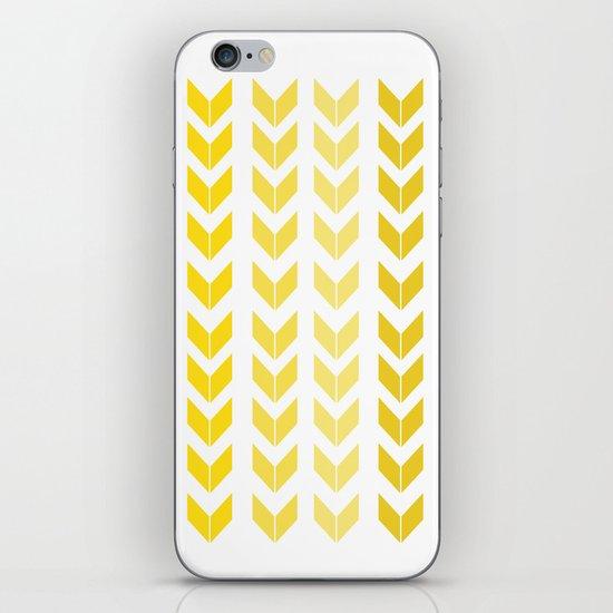 chevron yellow iPhone Skin