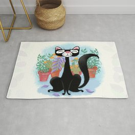 The Kitty Cat Who Loved Plants Rug