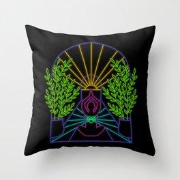 Electric Yogi Throw Pillow