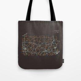 Pennsylvania Highways Tote Bag