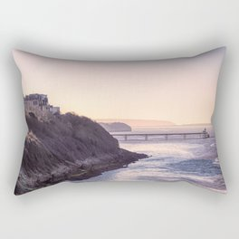 Clevedon Sea front Rectangular Pillow