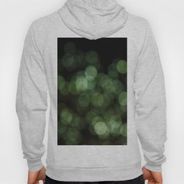 Bokeh Blurred Lights Shimmer Shiny Dots Spots Circles Out Of Focus Green Hoody