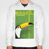 brazil Hoodies featuring Brazil [rainforest] by Caetanorama Art Studio