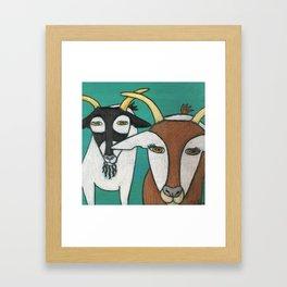 Two Goats Framed Art Print