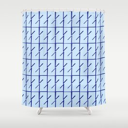 Antic pattern 11- from LBK blue Shower Curtain
