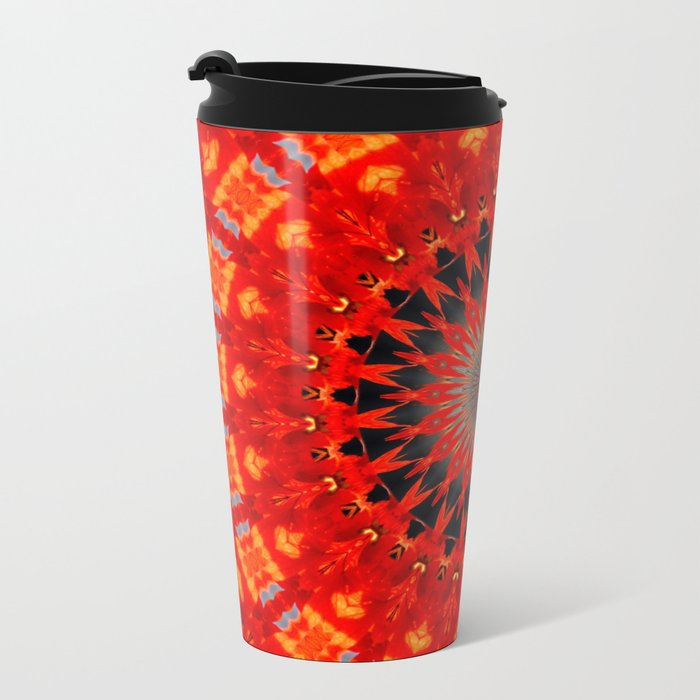 RED CIRCLE Metal Travel Mug