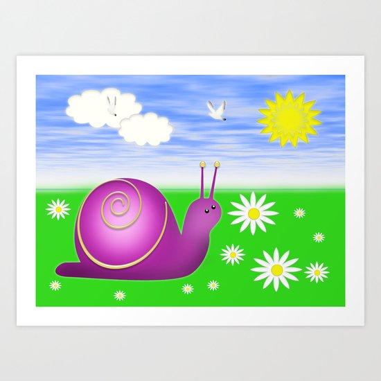Snails Life Art Print