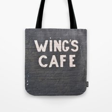 wings cafe Tote Bag