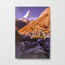 Mornings in Zermatt Metal Print