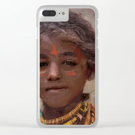 Strong Girl Clear iPhone Case