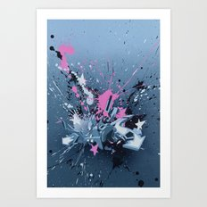 All directions - the fancy explosion Art Print
